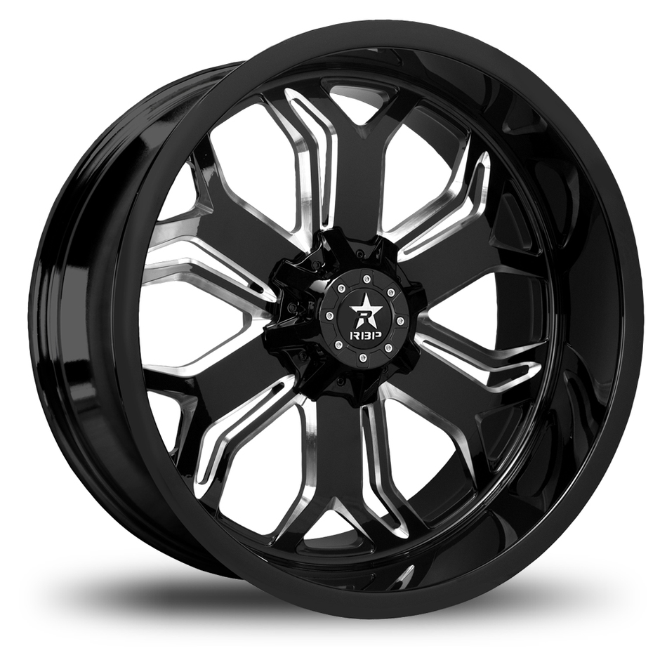 RBP Blade Monoblock Black and Machined Offroad Wheels