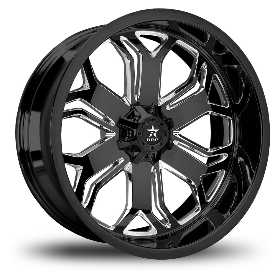 RBP Blade Monoblock Gloss Black and Machined Offroad Wheels
