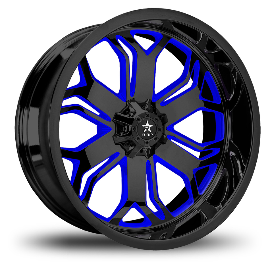 RBP Blade Monoblock Gloss Black and Blue Custom Offroad Wheels