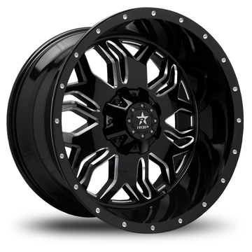 RBP Blade Offroad Gloss Black and Machined Finish Wheels