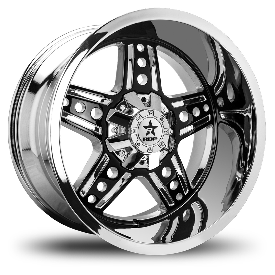 RBP Colt Offroad Black and Chrome Finish Wheels