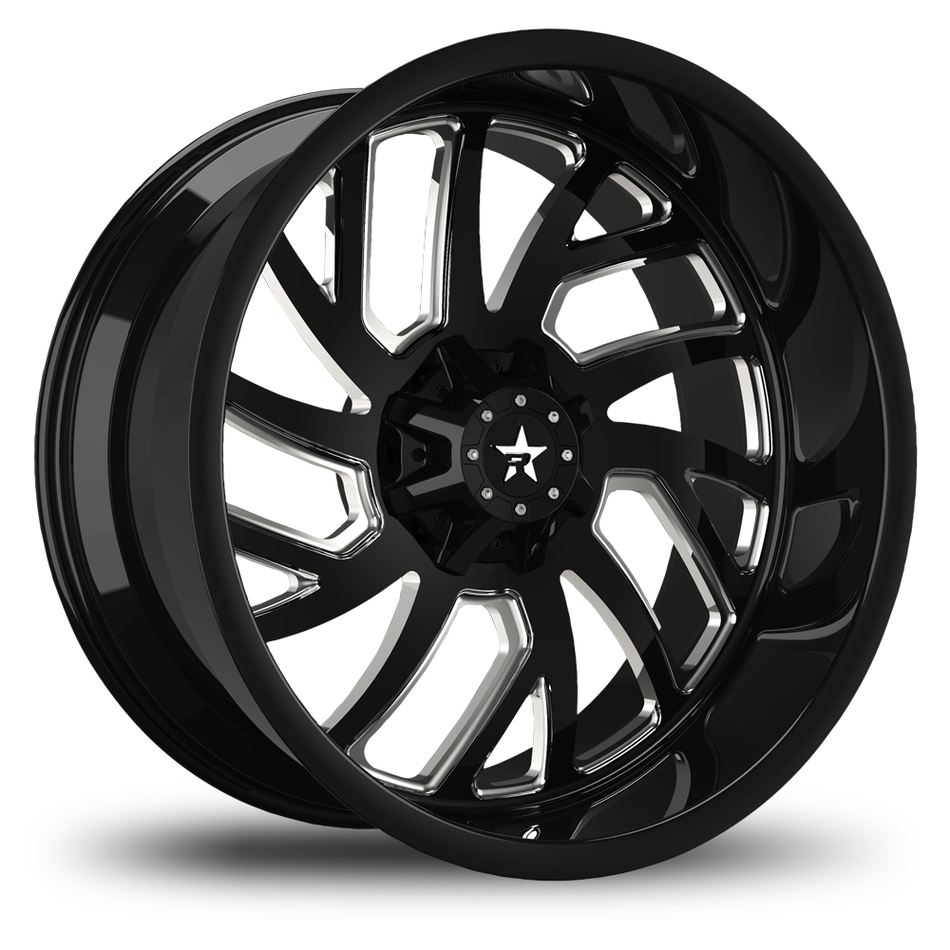 RBP Glock Monoblock Custom Black and Machined Finish Wheels