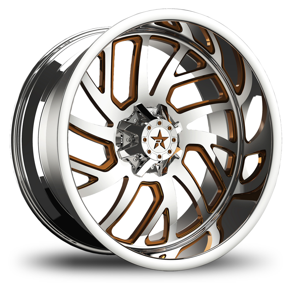 RBP Glock Monoblock Custom Chrome and Bronze Finish Wheels