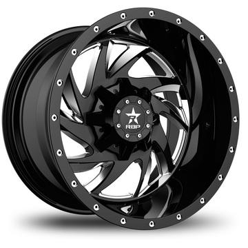 RBP HK5 Machine Black Finish Wheels