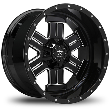 RBP Magnum Monoblock Black and Machined Finish Offroad Wheels