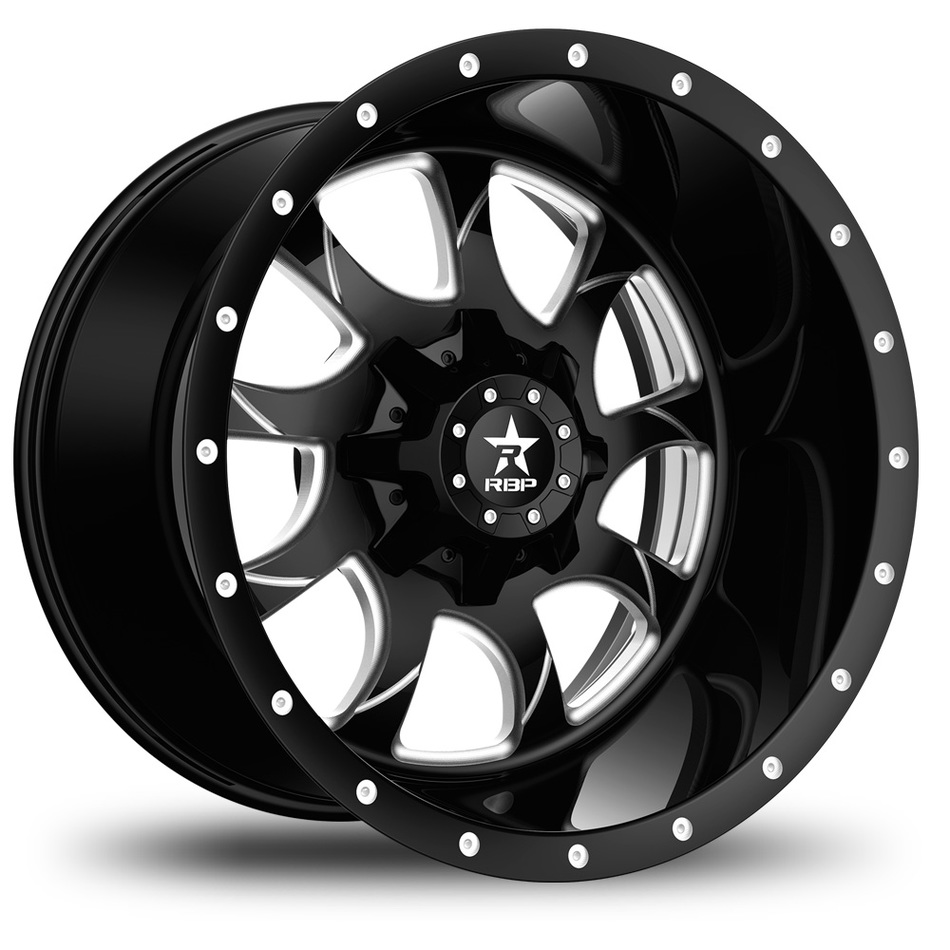 RBP Peacemaker Monoblock Custom Black and Milled Finish Wheels
