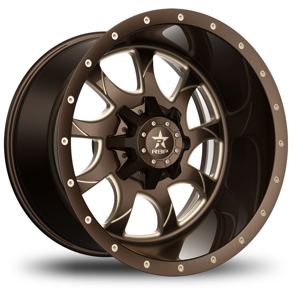 RBP Peacemaker Monoblock Custom Brown and Champagne Finish Wheels