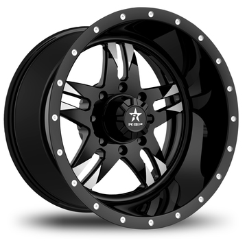 RBP Savage Monoblock Black and Machined Finish Wheels