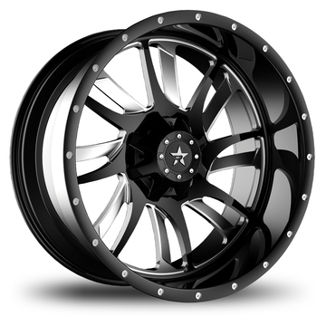 RBP Swat Monoblock Black and Machined Finish Wheels
