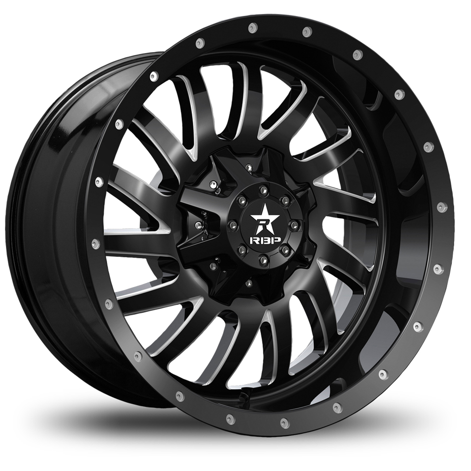 RBP Uzi Offroad Black and Machined Finish Wheels