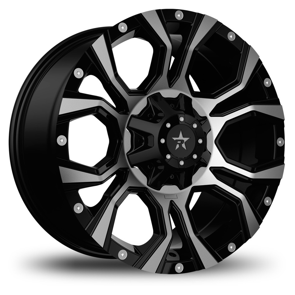 RBP Widow Offroad Black and Machined Finish Wheels