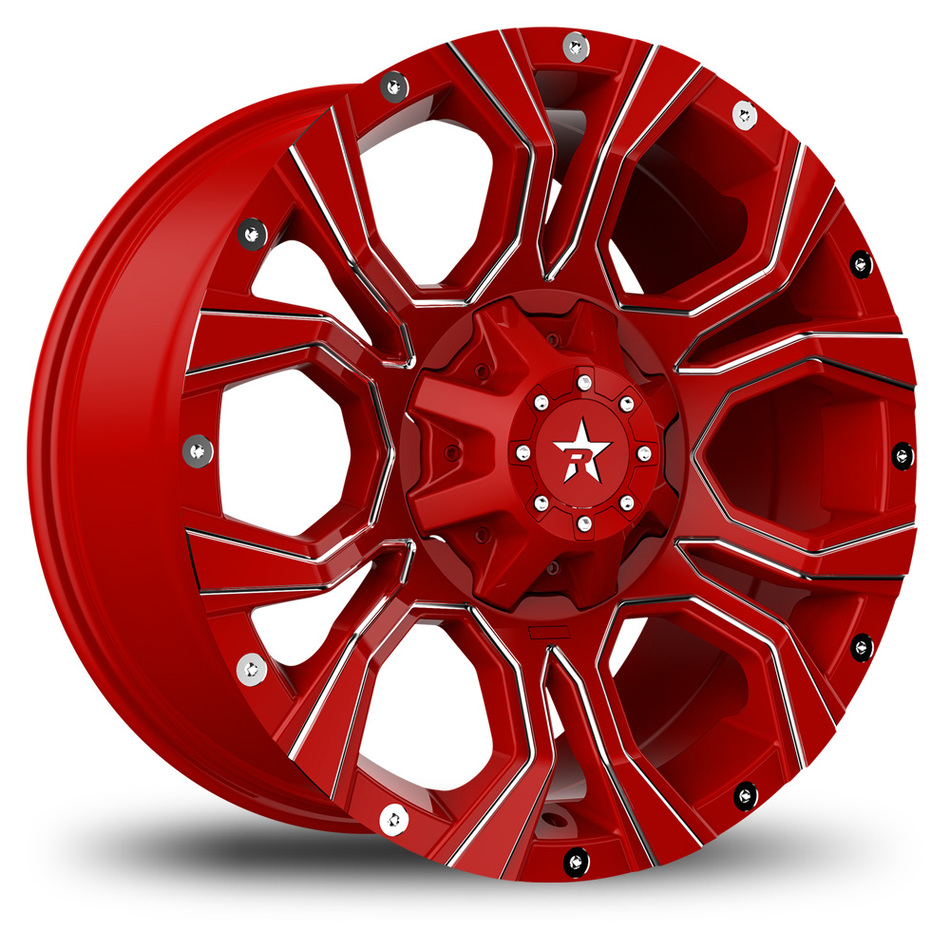 RBP Widow Offroad Custom Red and Chrome Finish Wheels