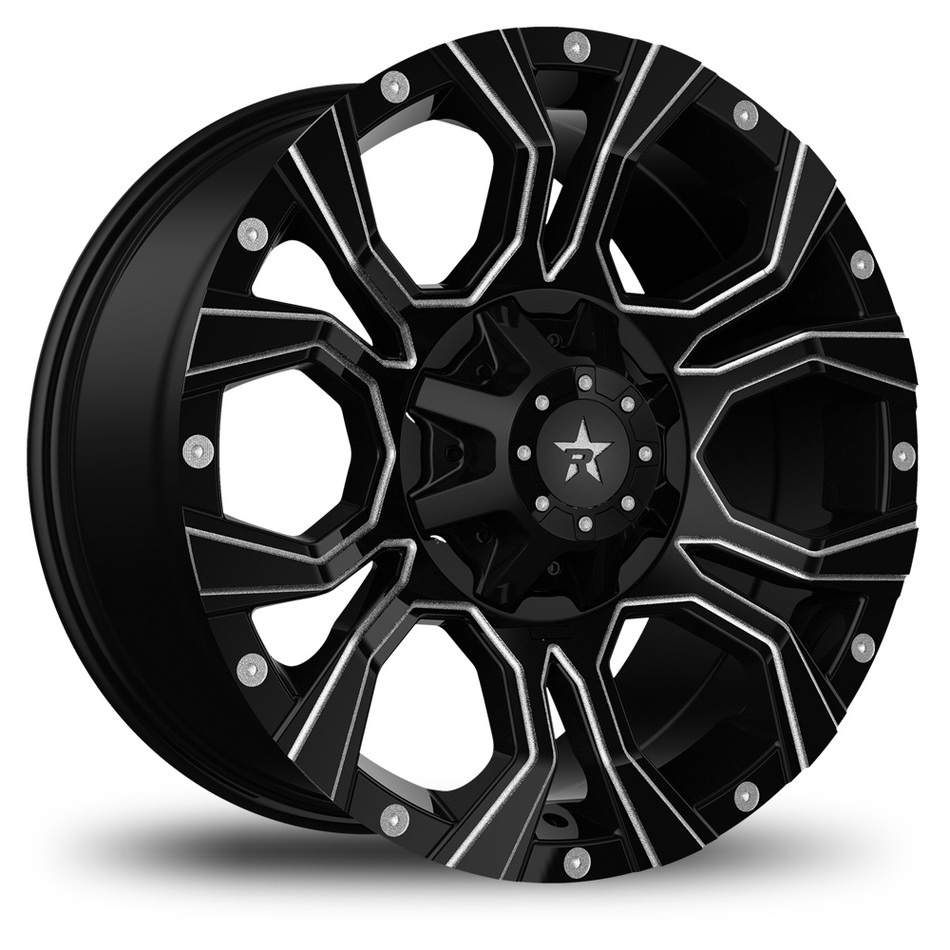 RBP Widow Offroad Custom Black with Milled Spokes Finish Wheels