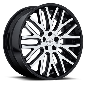 Redbourne Hampshire Wheels - Gloss Black with Machine Face and Gloss Black Lip