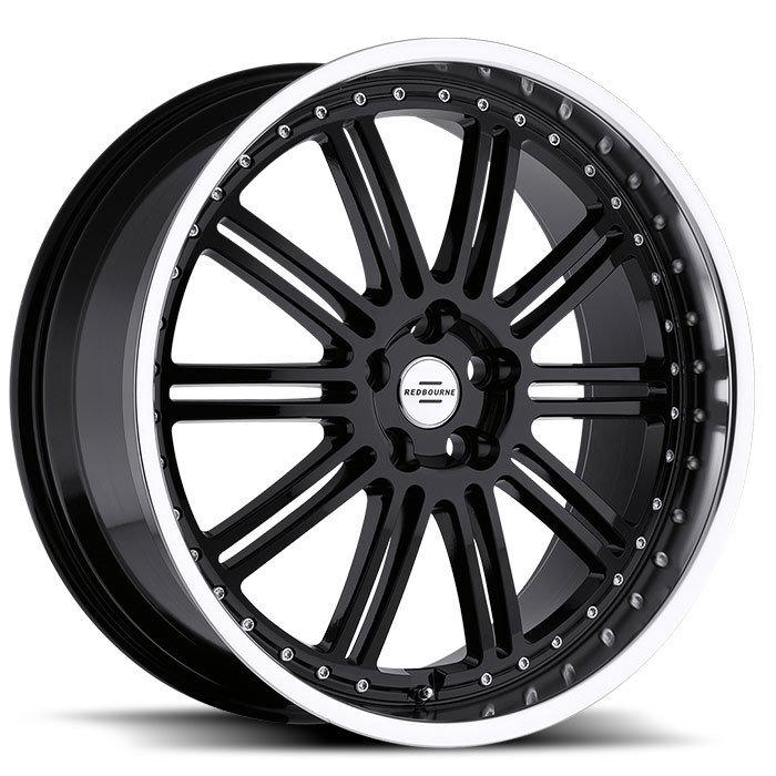 Redbourne Marques Gloss Black with Mirror Cut Lip Land Rover Wheels - Standard