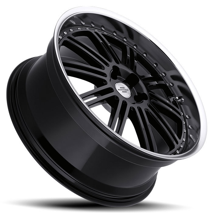 Redbourne Marques Gloss Black with Mirror Cut Lip Land Rover Wheels - Lay