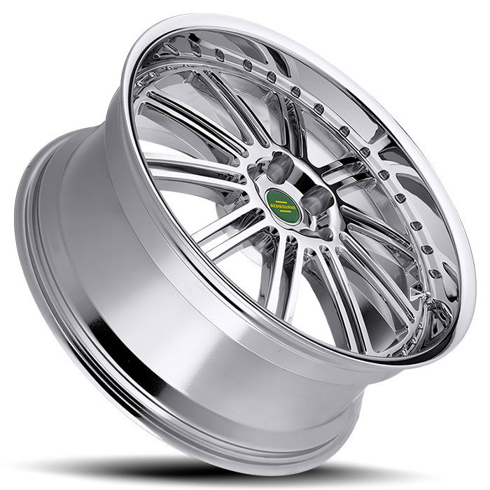 Redbourne Marques Chrome and Black Lip Wheels - Lay
