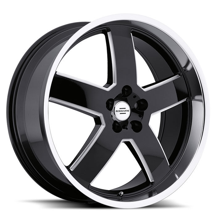 Redbourne Sovereign Gloss Black with Milled Spokes and Mirror Lip Land Rover Wheels - Standard