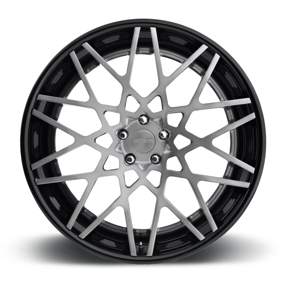 Rotiform BLQ Forged Custom Brushed Gray Center with Black Lip Finish Wheels