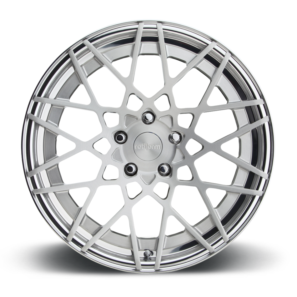Rotiform BLQ Forged Custom Brushed Center with Gloss Clear Lip Finish Wheels