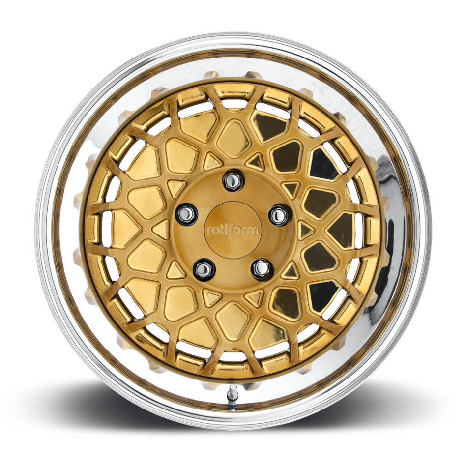 Rotiform BTH Forged Custom Gold Face with Polished Lip Finish Wheels