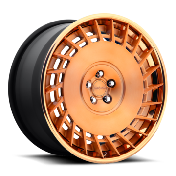 Rotiform CBU Forged Custom Brushed Matte Rose Gold Finish Wheels