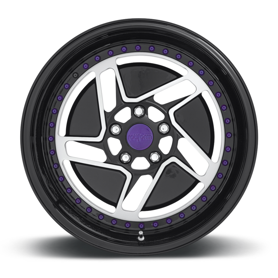 Rotiform CHD-T Forged Custom Brushed Gloss Black and Purple Finish Wheels