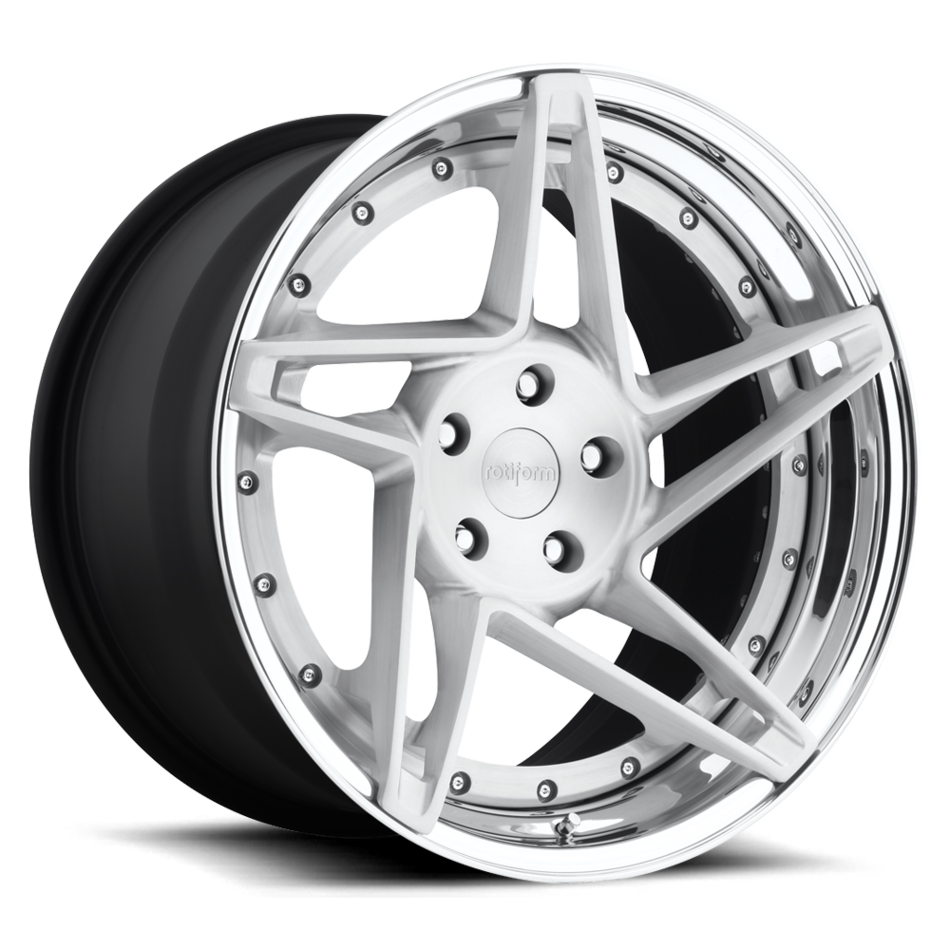 Rotiform CHD Forged Custom Brushed Matte Clear with Polished Lip Finish Wheels