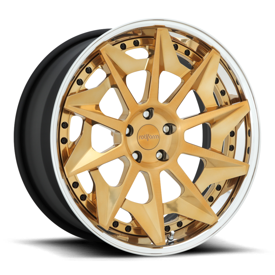 Rotiform CVT Forged Custom Brushed Candy Gold Finish Wheels