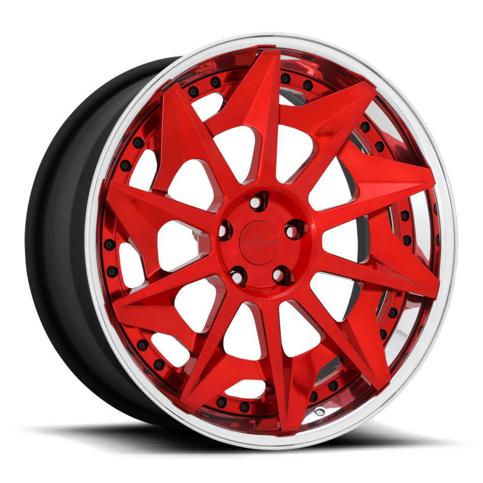 Rotiform CVT Forged Custom Brushed Candy Red Finish Wheels