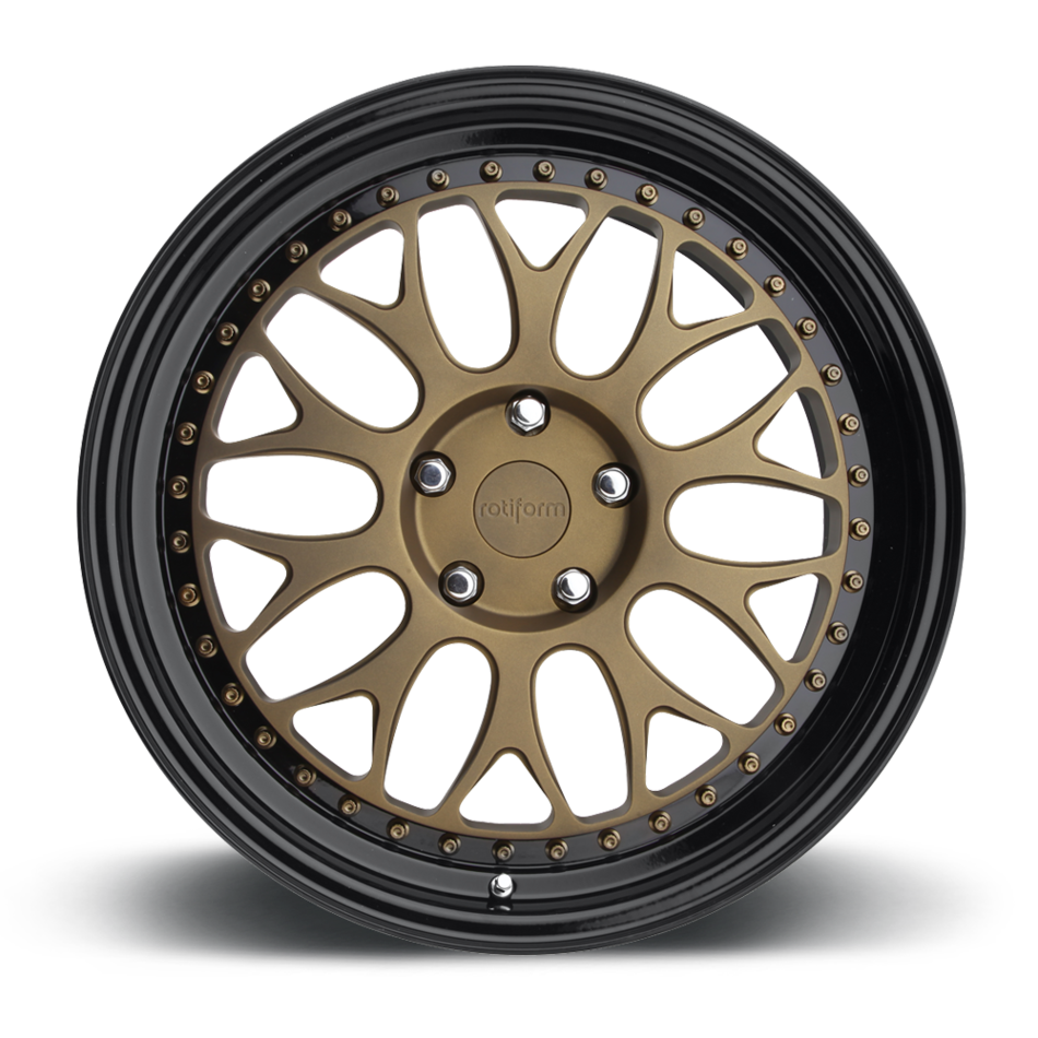 Rotiform DAB Forged Custom Matte Bronze Face with Black Lip Finish Wheels