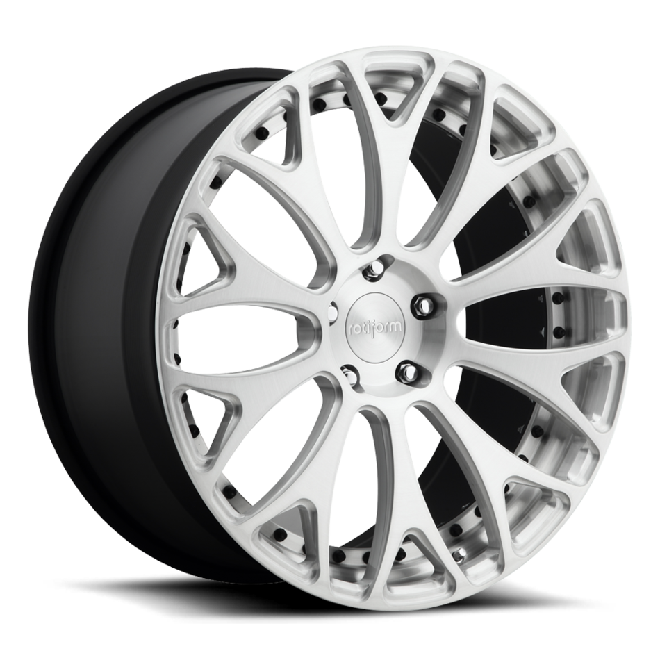 Rotiform DAB Forged Custom Brushed Face with Gloss Clear Finish Wheels