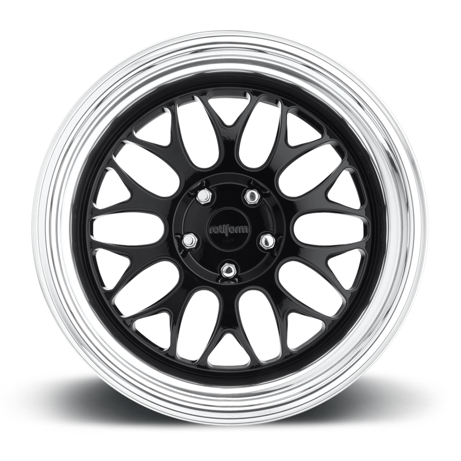 Rotiform DAB Forged Custom Gloss Black with Polished Lip Finish Wheels