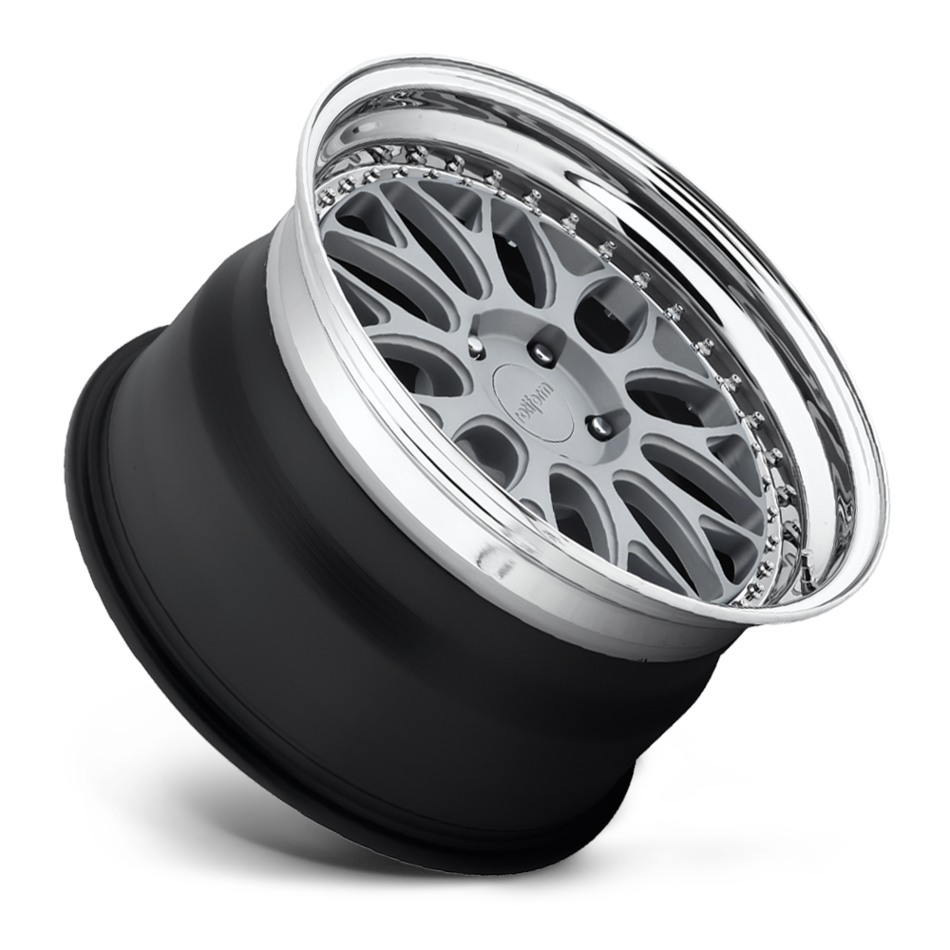 Rotiform DAB Forged Custom Matte Silver with Polished Lip Finish Wheels