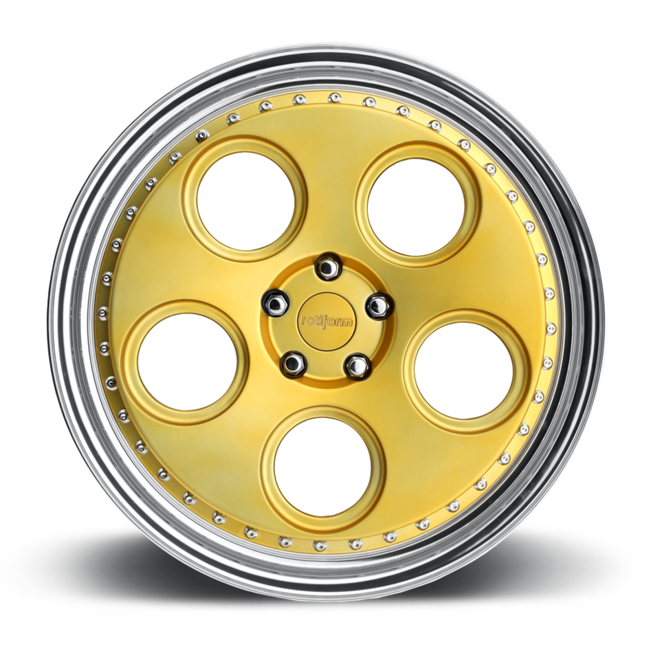Rotiform DIA Forged Custom Matte Gold Face with Polished Lip Finish Wheels