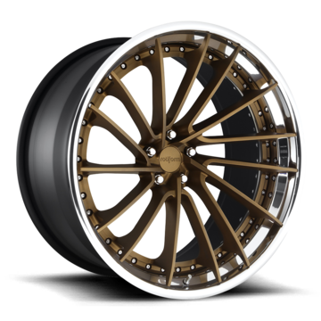 Rotiform DVO Forged Custom Matte Bronze Face with Polished Lip Finish Wheels