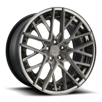 Rotiform HND Forged Custom Matte Candy Black Finish Wheels