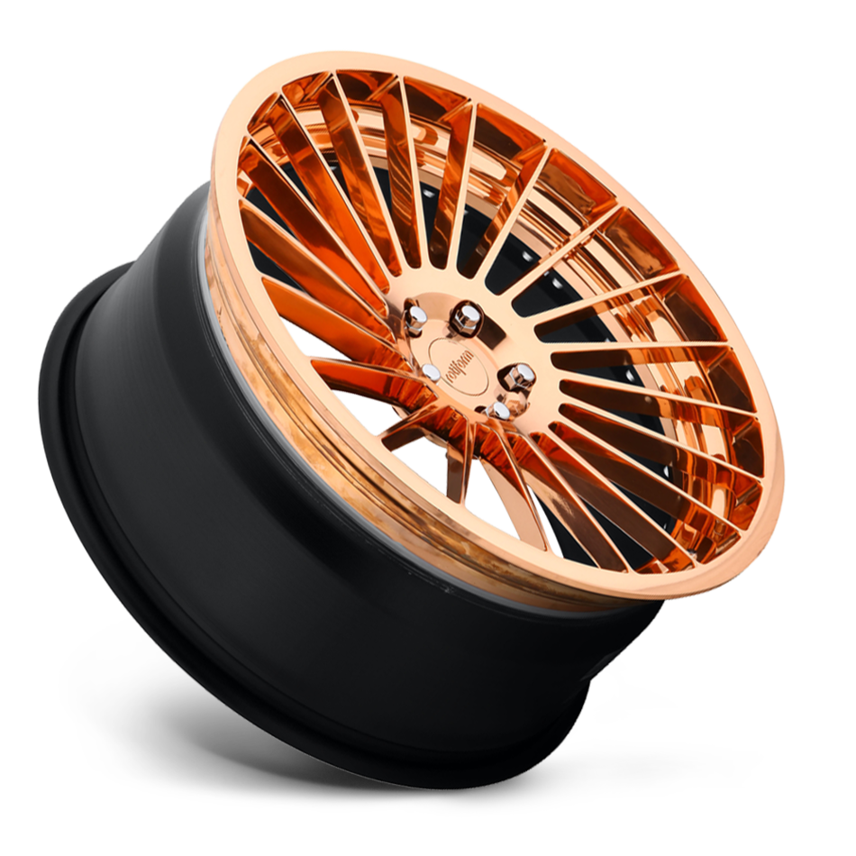 Rotiform IND-T Forged Custom Polished Copper Face with Copper Lip Finish Wheels