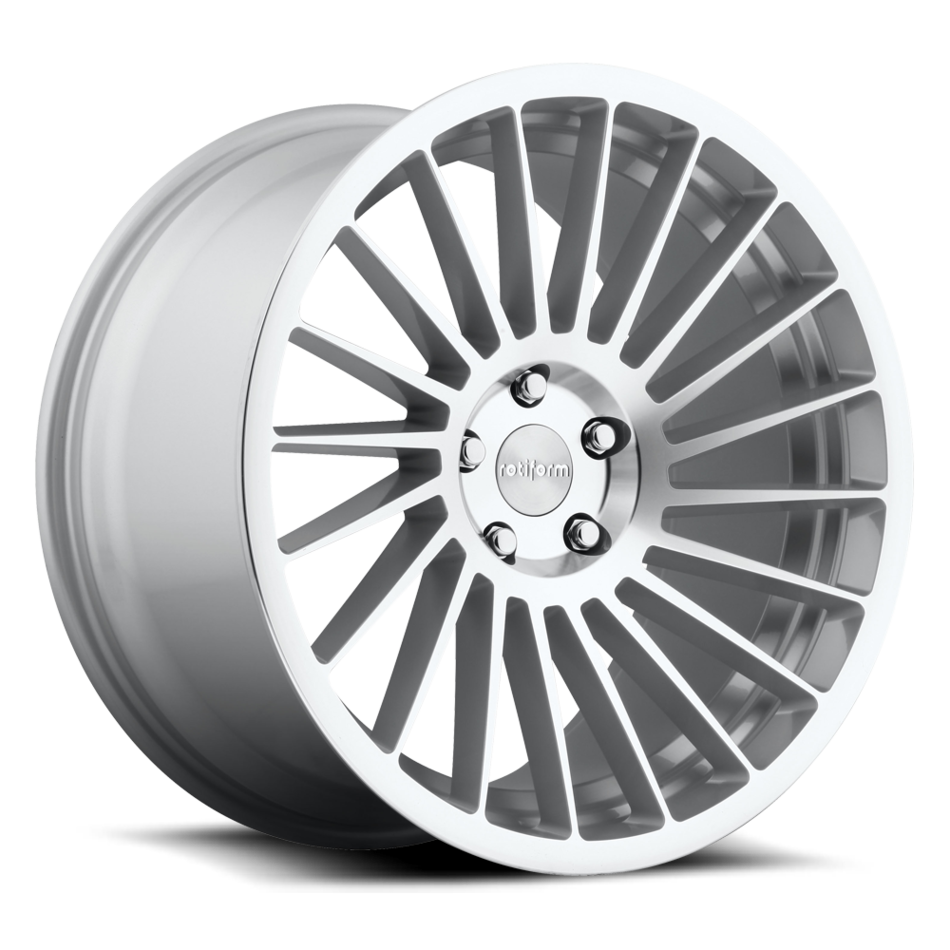 Rotiform IND-T Silver and Machined Finish Wheels