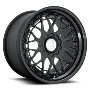 Rotiform LVS-M Forged Custom Matte Black Face with Gloss Black Lip Finish Wheels