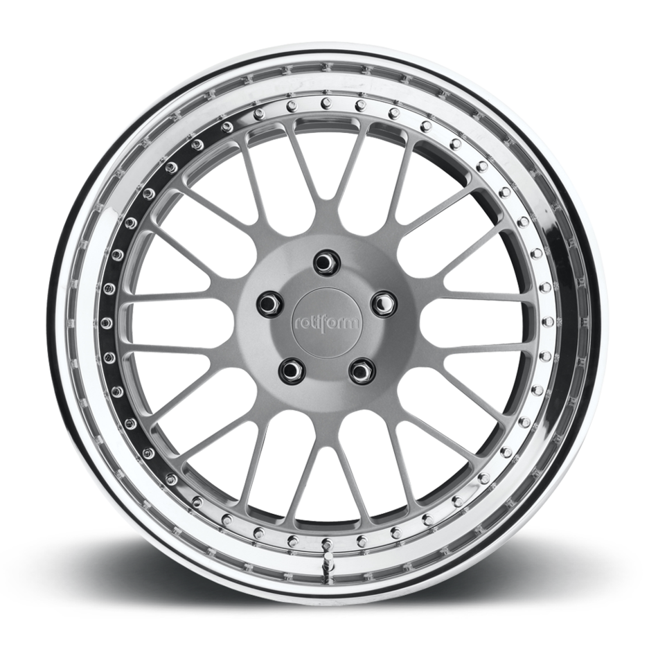 Rotiform LVS Forged Custom Matte Silver Face with Polished Lip Finish Wheels
