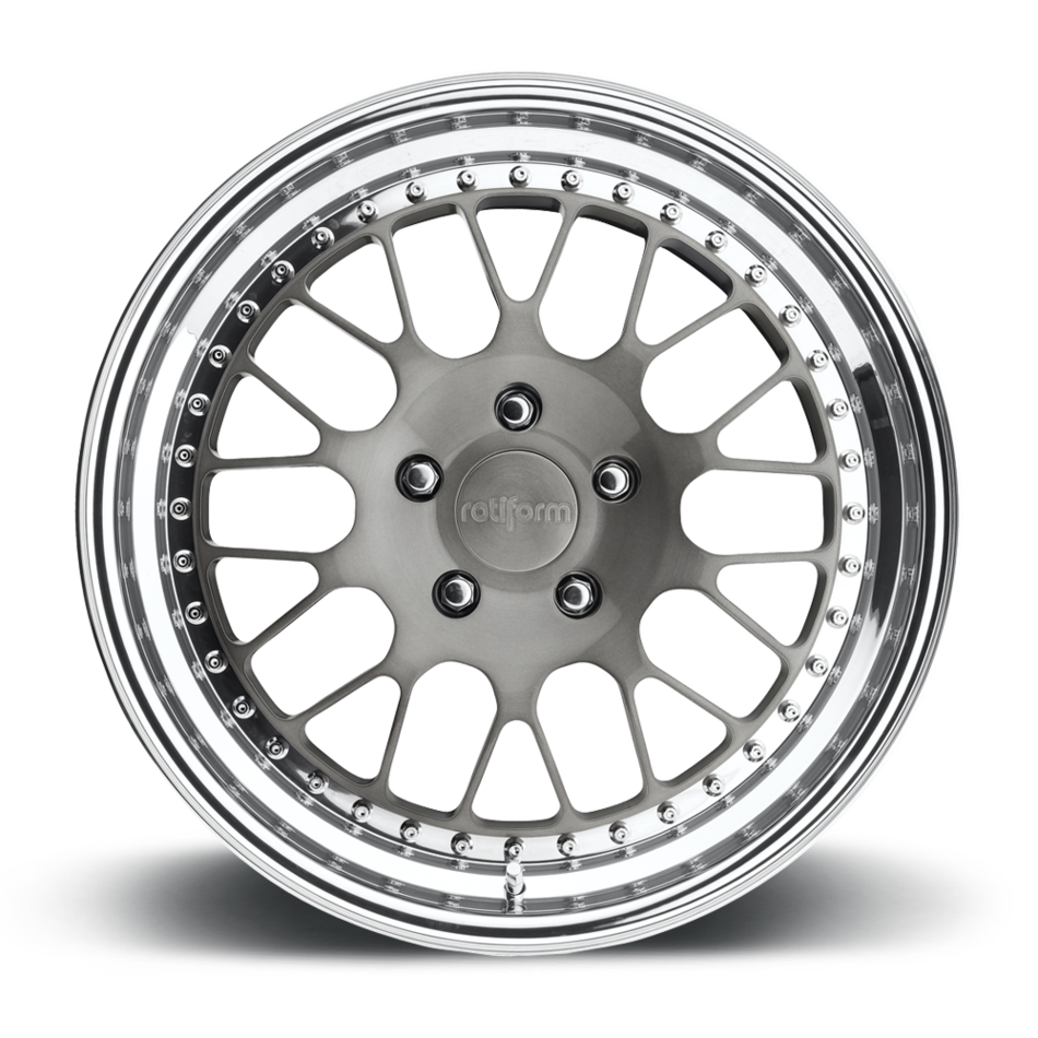 Rotiform LVS Forged Custom Brushed DDT Face with Polished Lip Finish Wheels