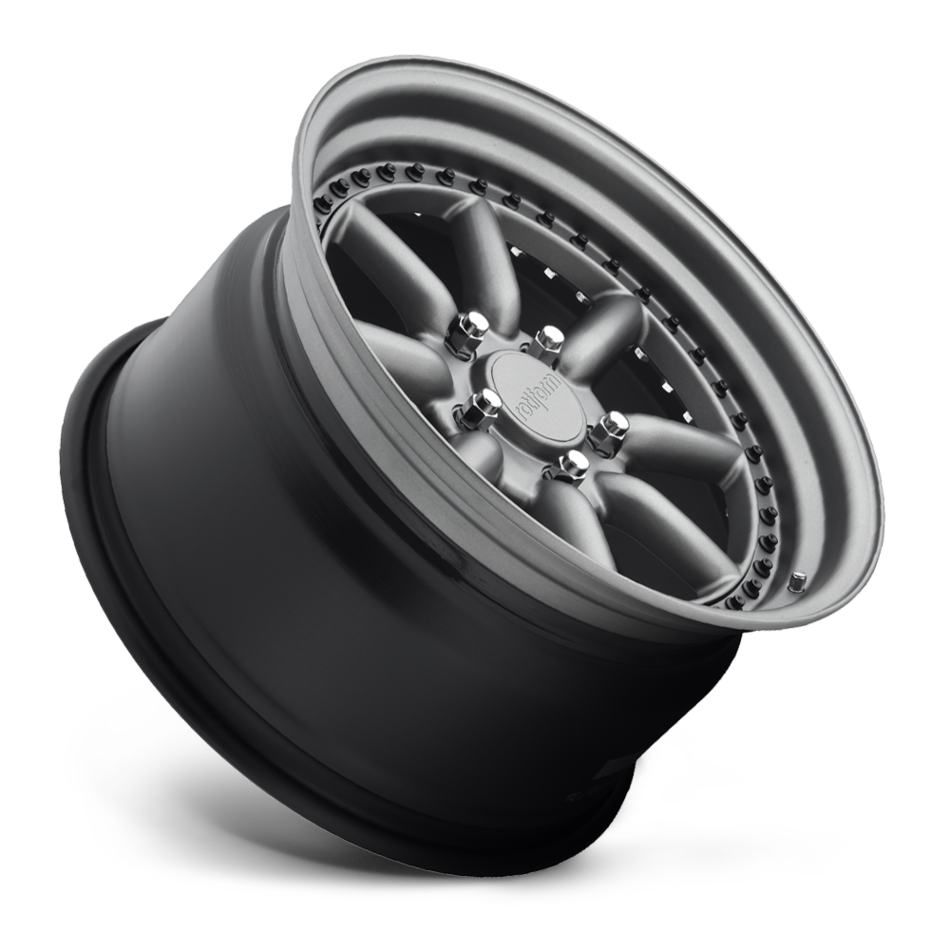 Rotiform MLW Forged Custom Matte Anthracite with Black Hardware Finish Wheels