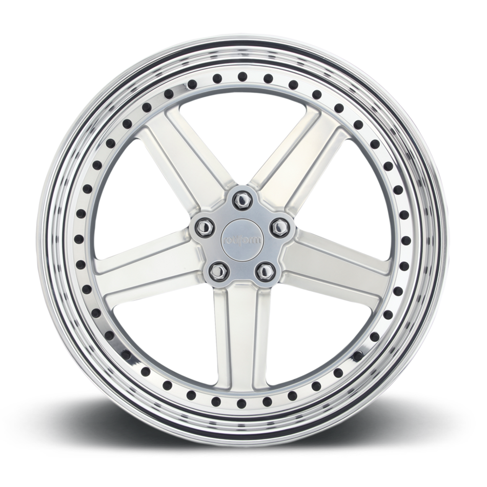 Rotiform PNT Forged Custom Hi Luster Polished with Matte Clear Finish Wheels