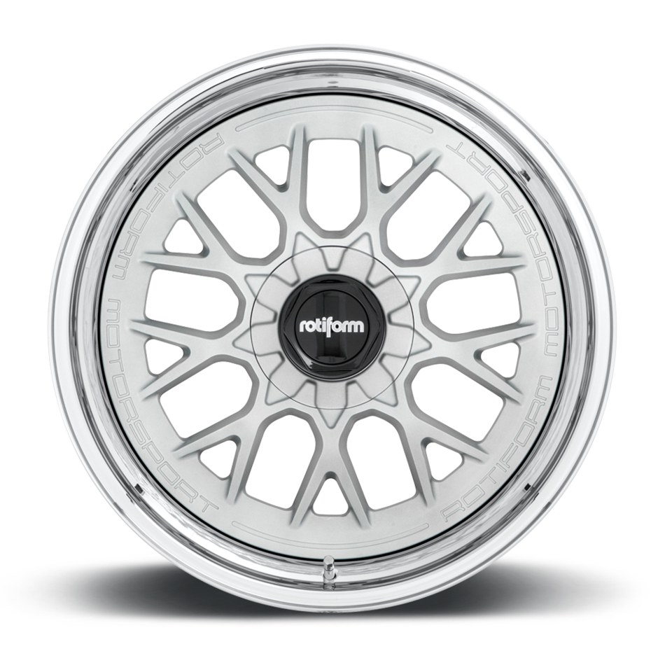 Rotiform RSE-M Forged Custom Matte Silver with Chrome Lip Finish Wheels