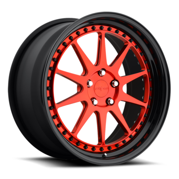 Rotiform MUC Forged Custom Polished Candy Red Face with Black Lip Finish Wheels