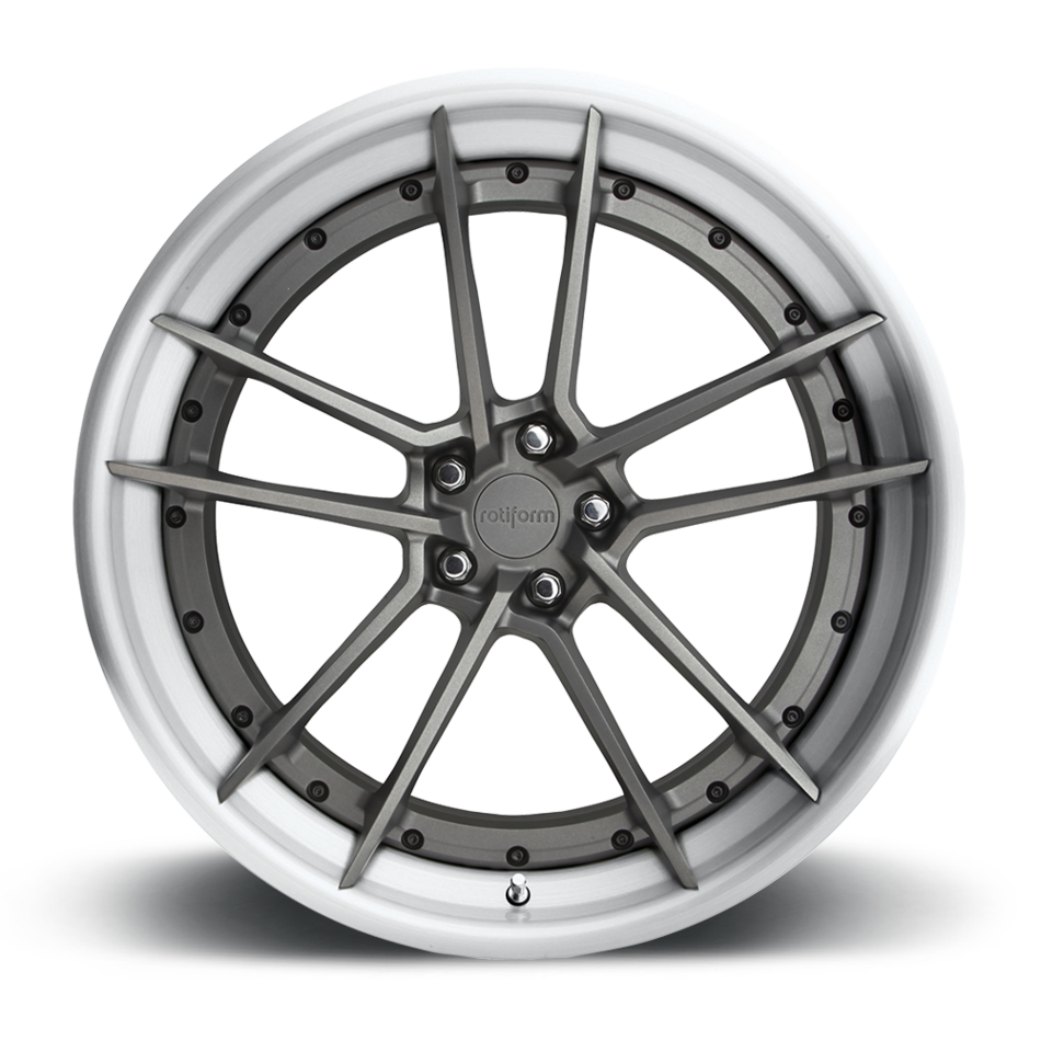 Rotiform SFO Forged Custom Anthracite Face with Brushed Gloss Lip Finish Wheels