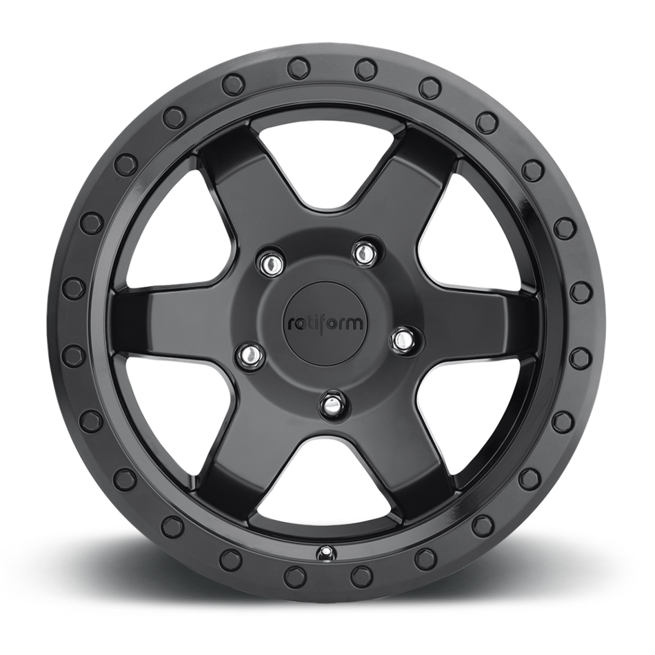 Rotiform SIX-OR Matte Black Face with Gloss Black Windows Finish Wheels
