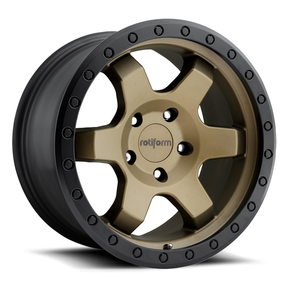 Rotiform SIX-OR Matte Bronze with Black Lip Finish Wheels