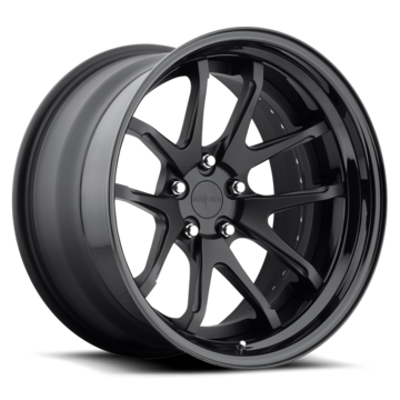Rotiform SNA Forged Custom Matte Black Face with Gloss Black Lip Finish Wheels
